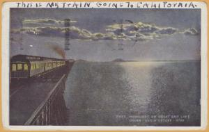Ogden Utah, Southern Pacific's Lucin Cut, Moonlight on the Great Salt Lake-1937