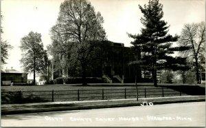 Vtg Postcard RPPC Shakopee Minnestota MN 1940s Scott County Court House  Unp