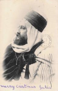 ALGER ALGERIA POSTED 1904-VOLLENWEIDER PHOTO POSTCARD OF ARAB