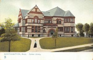 Northampton Massachusetts~Judge Charles E Forbes Library~1905 TUCK Postcard