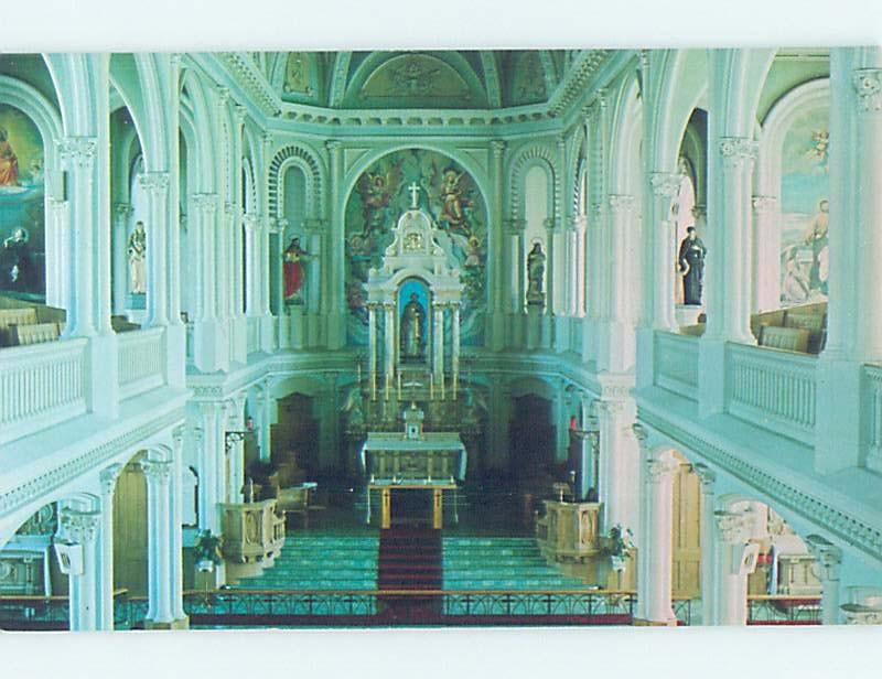 Unused Pre-1980 CHURCH SCENE Cheticamp On Cape Breton Nova Scotia NS G3072