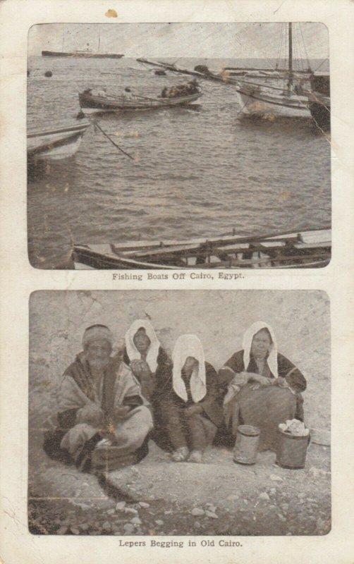 EGYPT , 00-10s ; Cairo , Fishing Boats & Leper beggers