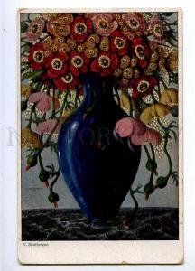 189998 ART NOUVEAU Flowers in Vase by STRATHMANN Vintage PC