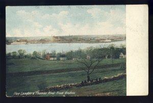 Groton, Connecticut/CT Postcard, New London & Thames River