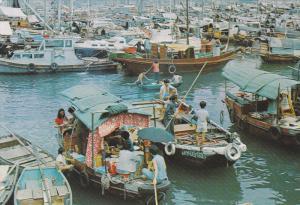 HONG KONG, China; Floating people in Castle peak Bay, New Territories, 50-70s