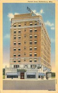 1940s Forest Hotel Hattiesburg Mississippi linen Teich postcard 10937