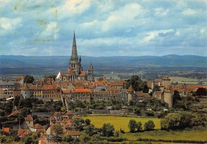 France Autun Vue Generale General view Cathedral Postcard