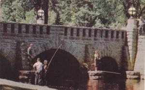 The Menominee Park Bridge over the Lagoon,  Oshkosh,  Wisconsin,  40-60s