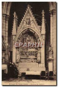 Postcard Abbey of Saint Denis Tomb of Dagobert