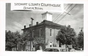 LPSS14 Dover Stewart County Tennessee Court House Postcard RPPC