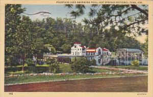 Fountain Lake Swimming Pool Hotel Springs National Park Aransas 1944