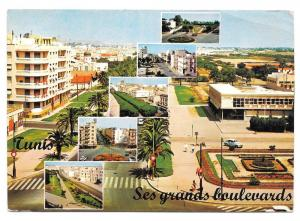 Tunisia Tunis Multiview Ses Grands Boulevards Postcard