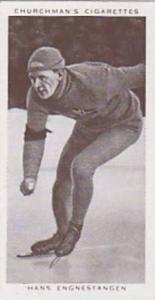 Churchman Vintage Cigarette Card Kings Of Speed Series No. 40 Hans Engnestang...