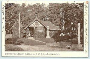 Postcard NY LI Long Island Huntington Public Library 1905 View #9  F11