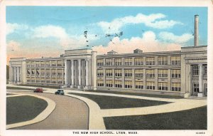 The New High School, Lynn, Massachusetts, Early Postcard, used in 1933