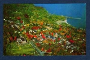 NY Aerial PORT HENRY NEW YORK Lake Champlain POSTCARD