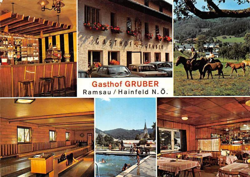 Gasthof Gruber Ramsau Hainfeld Pension Zum Touristen Schwimmbad Pferde Auto Cars