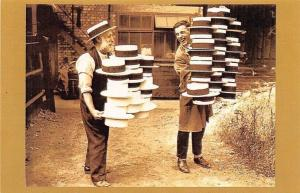 England Luton 1928 heatwave industry, men's straw hats, Nostalgia Reprint