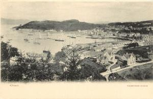 Vintage Postcard Oban Argyll and Bute council Scotland Overview UK