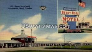 Betsy Ross Motel and Dining Room Fayetteville NC Writing on back