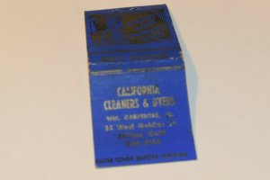 California Cleaners & Dryers Advertising 20 Strike Matchbook Cover