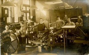 Germany - Printing Press.    *RPPC