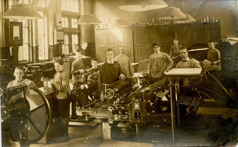 Germany - Printing Press.    *RPPC