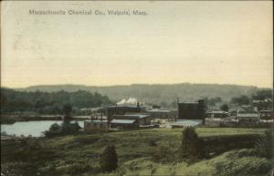 Walpole MA Massachusetts Chemical Co c1910 Postcard