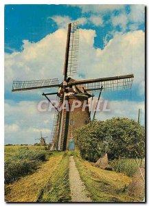 Postcard Modern Kinderdijk Watermolen