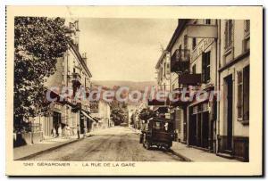 Old Postcard Gerardmer La Rue De La Gare