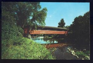 North Bennington, Vermont/VT Postcard, Old Covered Bridge