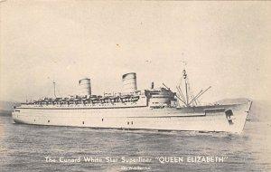 Queen Elizabeth Cunard Line Ship Unused