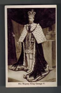Mint RPPC Postcard King George V KGV in RObes Royalty England