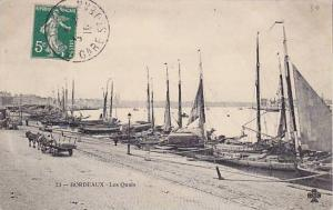 Sailboats, Les Quais, Bordeaux (Gironde), France, 1900-1910s