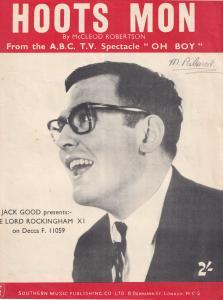 Hoots Mon Lord Rockingham's XI 1950s Sheet Music