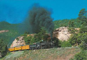 Colorado Durango and Silverton Narrow Gauge Railroad Pulling Up The Grade Fro...