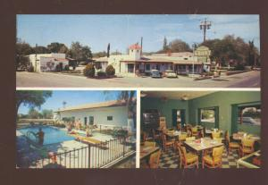 LAS CRUCES NEW MEXICO BROADWAY COURTS RESTAURANT INTERIOR CARS POSTCARD