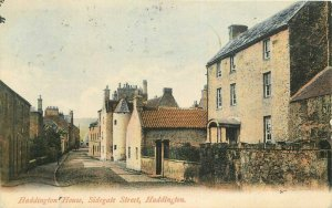 1908 East Lothian Scotland UK Postcard Haddington House Sidegate 6589