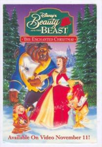 Walt Disney Movie ADV postcard:  Beauty and the Beast  The Enchanted Christma...