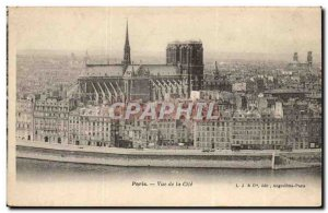 Paris Old Postcard View of the City
