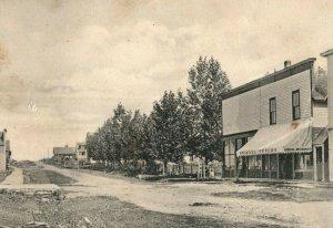 C.1910 Michael Fenlon Store, Main Street, Hassel, MI Vintage Postcard P120