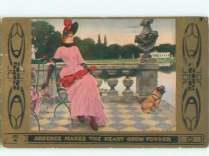 Divided-Back PRETTY WOMAN Risque Interest Postcard AA7863