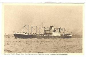 Canadian Pacific Cargo Liner Beaverford, 10,000 Tons: Sister Ships Beaverdell...