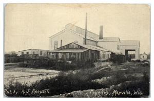 1911 Foundry, Mayville, WI Postcard *5J20