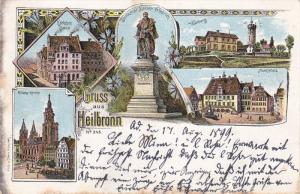Gruss aus Heilbronn , northern Baden-Württemberg, Germany , PU-1899