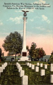 Virginia Arlington National Cemetery Soldiers and Sailors Monument War Of 189...