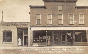 Laurel IA~Savings Bank~Department Store~Ladies in Front~Madill Killed~1910 RPPC