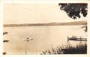 LP39  Hamilton Lake Cold Spring Indiana Vintage Real Photo Postcard RPPC