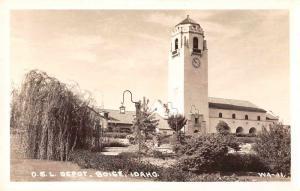 Boise Idaho OSL Train Depot Real Photo Antique Postcard J74107