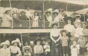 Postcard Croatia steam boat ladies childs costumes hats